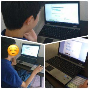 パソコンのワードで文字や図を入れる練習